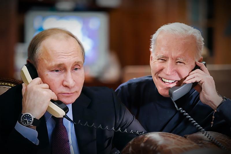 Владимир Путин и Джо Байден разговаривают по телефону