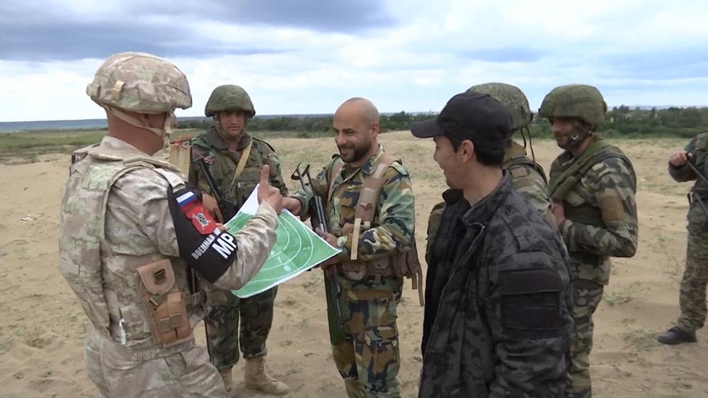 Российские и сирийские военные в Сирии