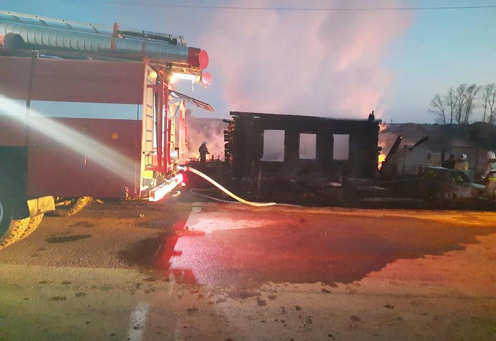 Пожар в Свердловской области