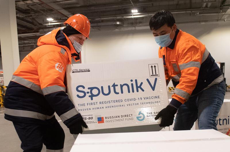 Груз с российской вакциной Sputnik V