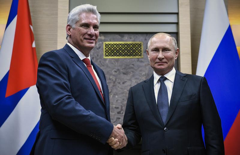 Владимир Путин и президент Кубы Мигель Диас-Канель Бермудес