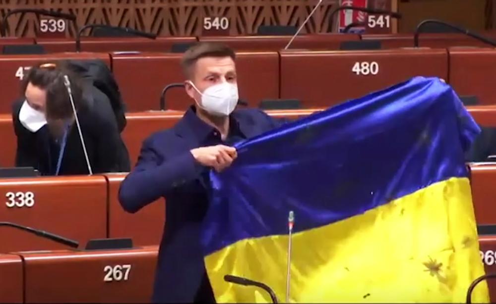 Заседание ПАСЕ. Представитель Украины Алексей Гончаренко