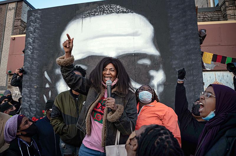 Митинг памяти Джорджа Флойда