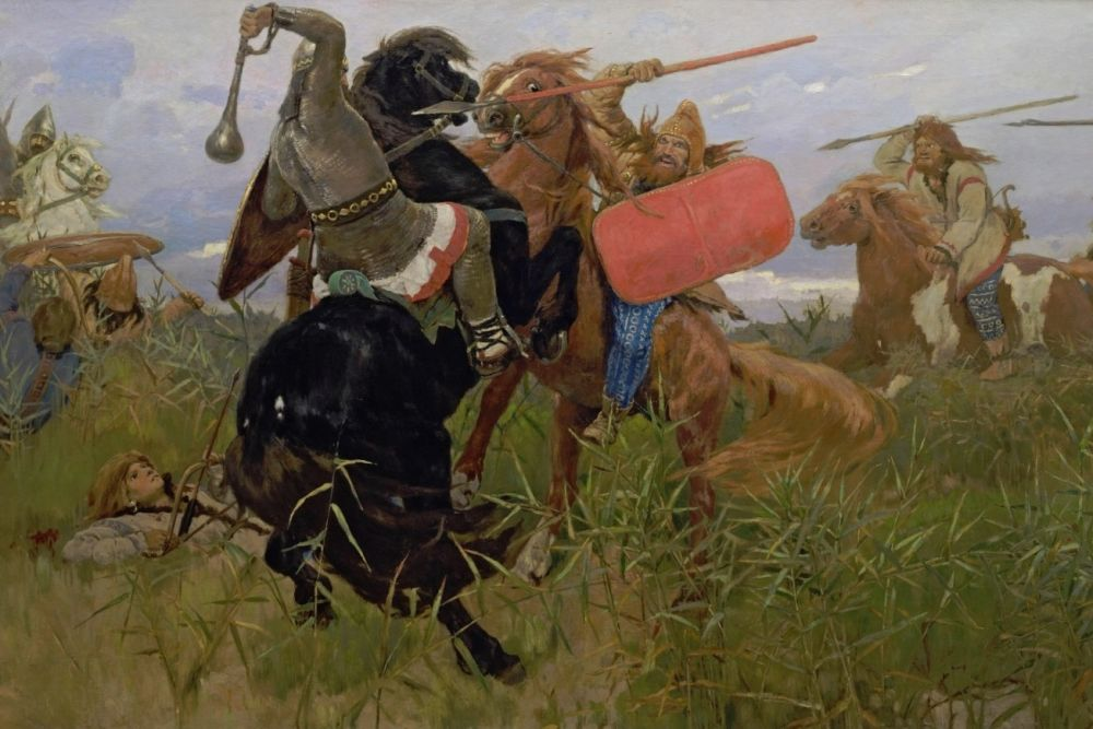 """Виктор Васнецов, картина """"Бой скифов со славянами"""""""