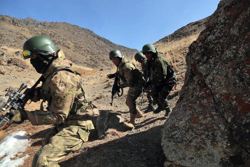 Военнослужащие армии Киргизии