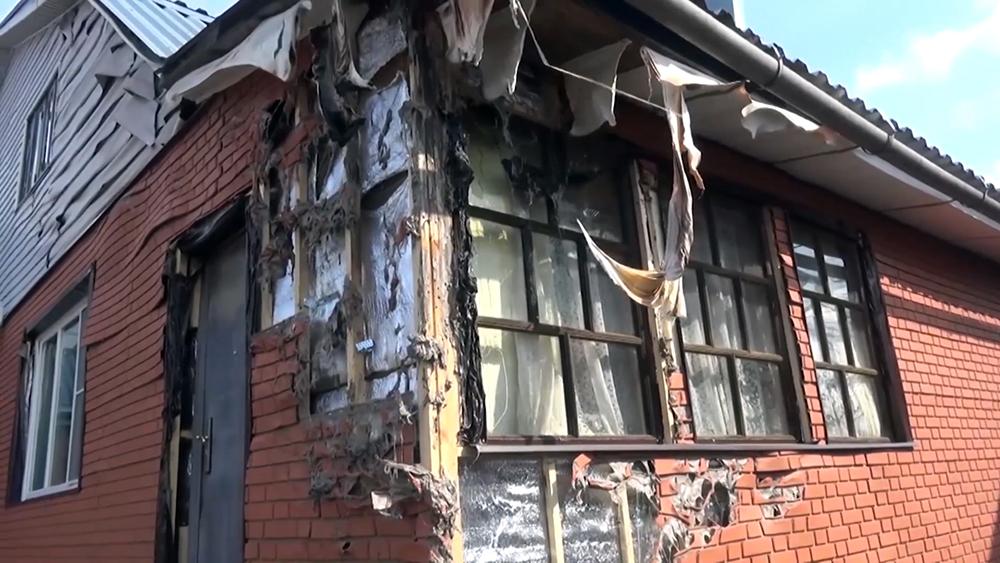 Последствия пожара в частном доме