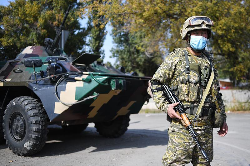Военнослужащий вооруженных сил Киргизии