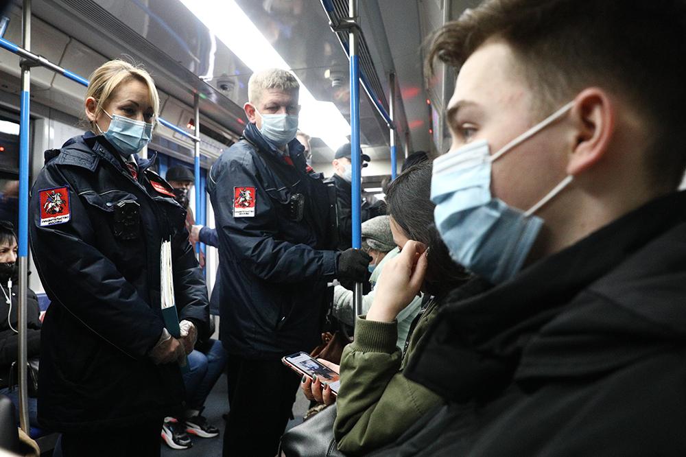 Проверка соблюдения масочного режима в метро