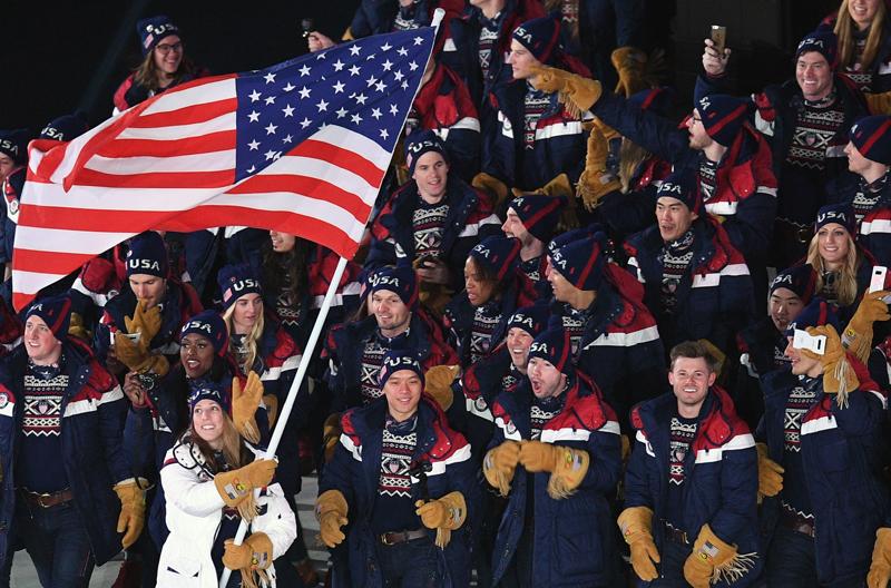 Спортсмены сборной США