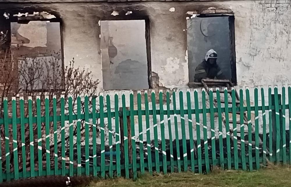 Пожар в Омской области