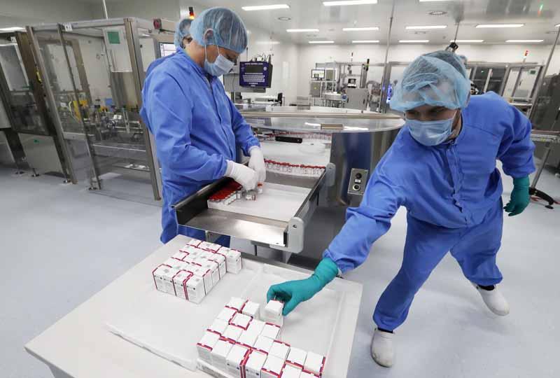 Производство вакцины от COVID-19