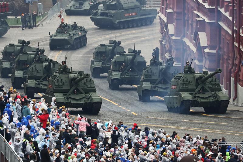 Парад, посвященный 76-летию Победы, в Москве