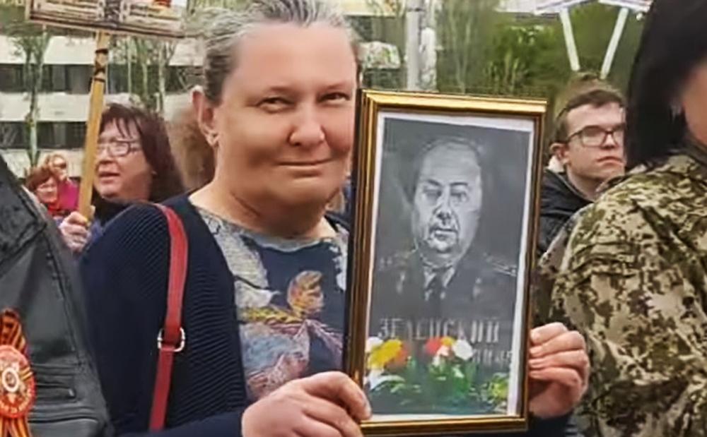 """Акция """"Бессмертный полк"""" в Донецке"""
