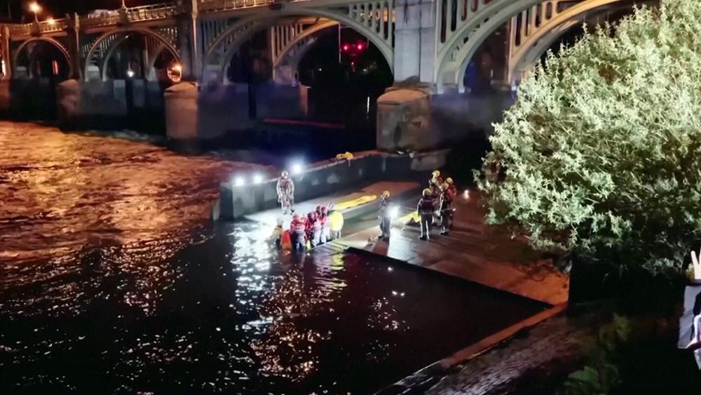 Спасение застрявшего на мели в Темзе кита