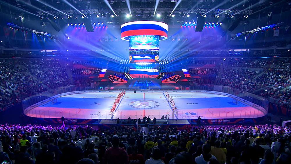 Путин забросил 4 шайбы за 15 минут матча Ночной хоккейной лиги