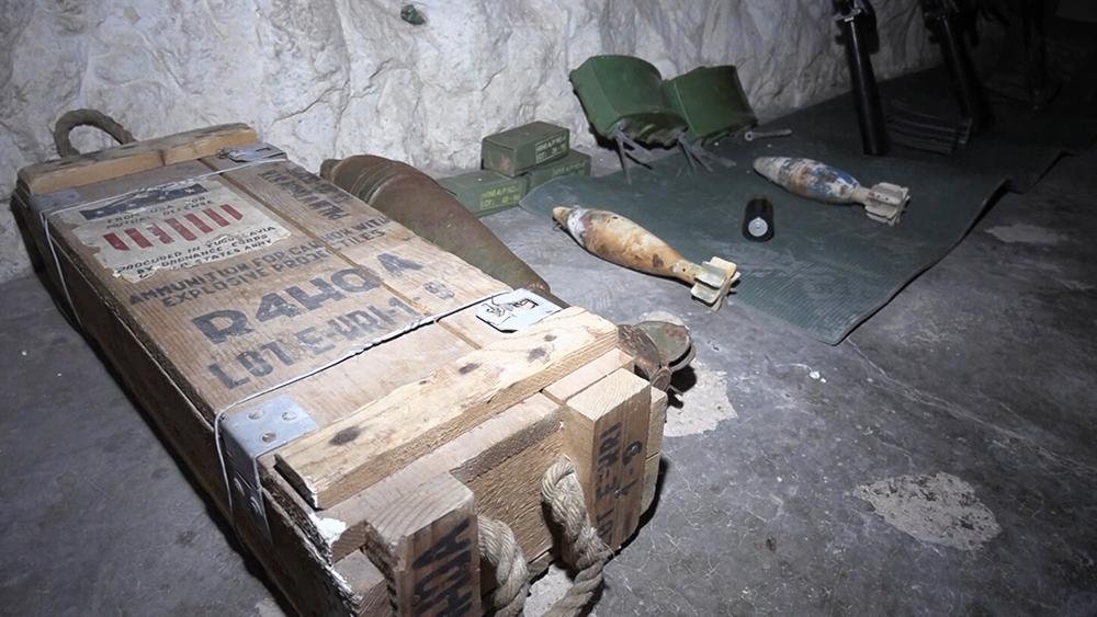 Брошенная боевиками пещера