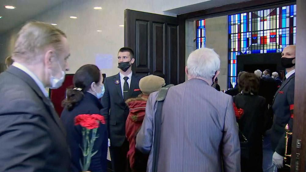 Церемония прощания с Егором Лигачевым