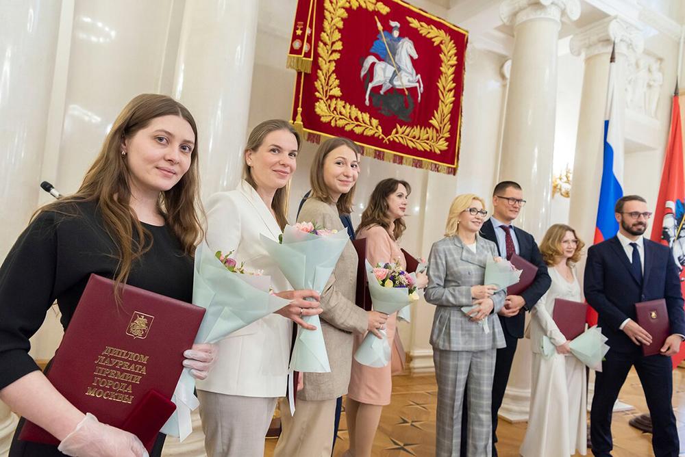 Вручение премий города Москвы медработникам