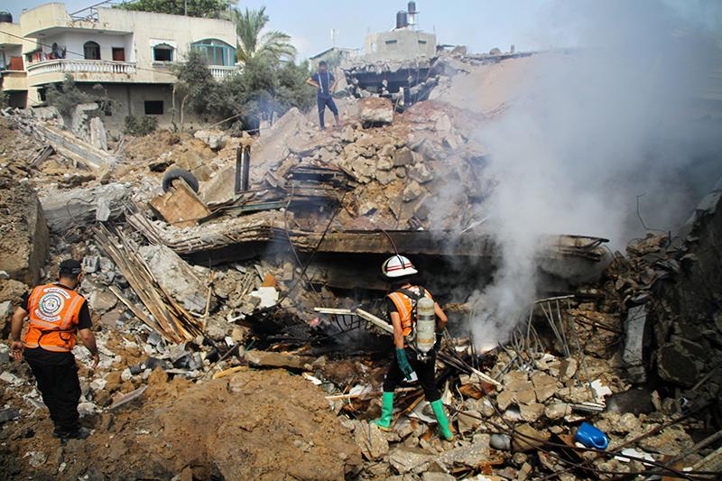 Последствия авиаудара Израиля по сектору Газа