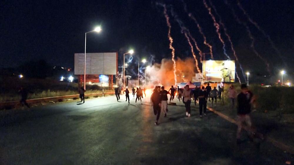 Столкновения палестинцев с полицией Израиля