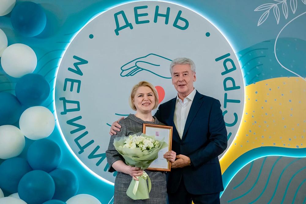 Сергей Собянин на церемонии награждения медсестер