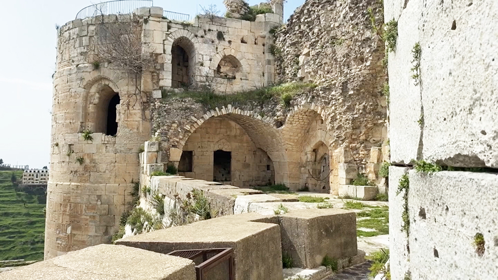Замок Крак-де-Шевалье в Сирии