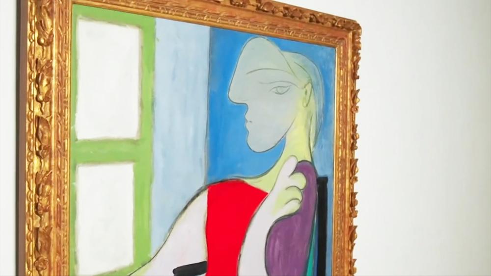 """Картина Пабло Пикассо """"Женщина, сидящая у окна"""""""