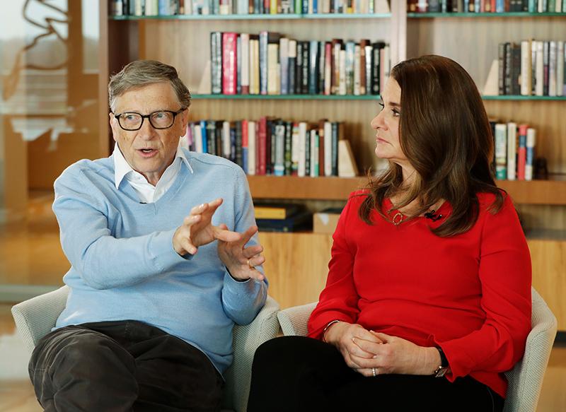 Билл Гейтс с женой
