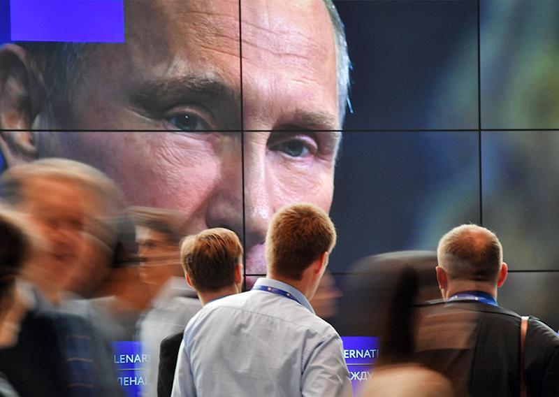 Трансляция обращения Владимира Путина