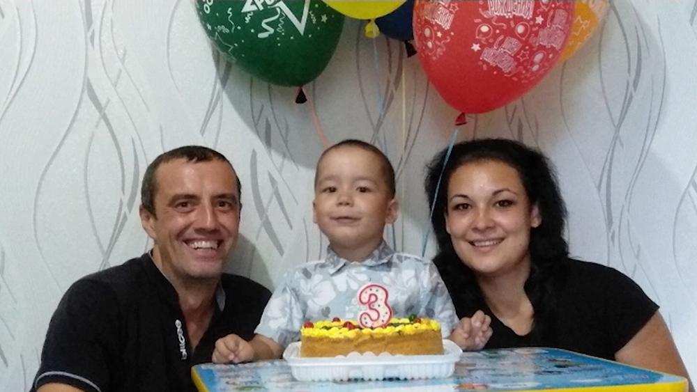 Коля Куланин с семьей