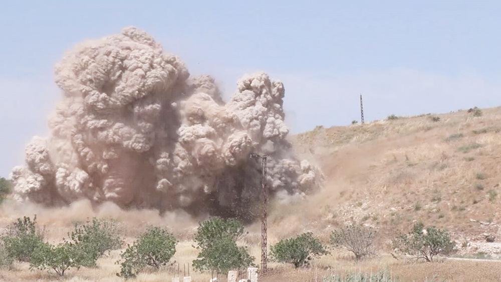 Российские военные уничтожили подземные катакомбы в Сирии
