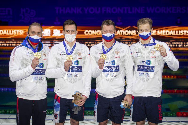 Слева направо: Михаил Вековищев, Мартин Малютин, Александр Красных и Александр Щеголев