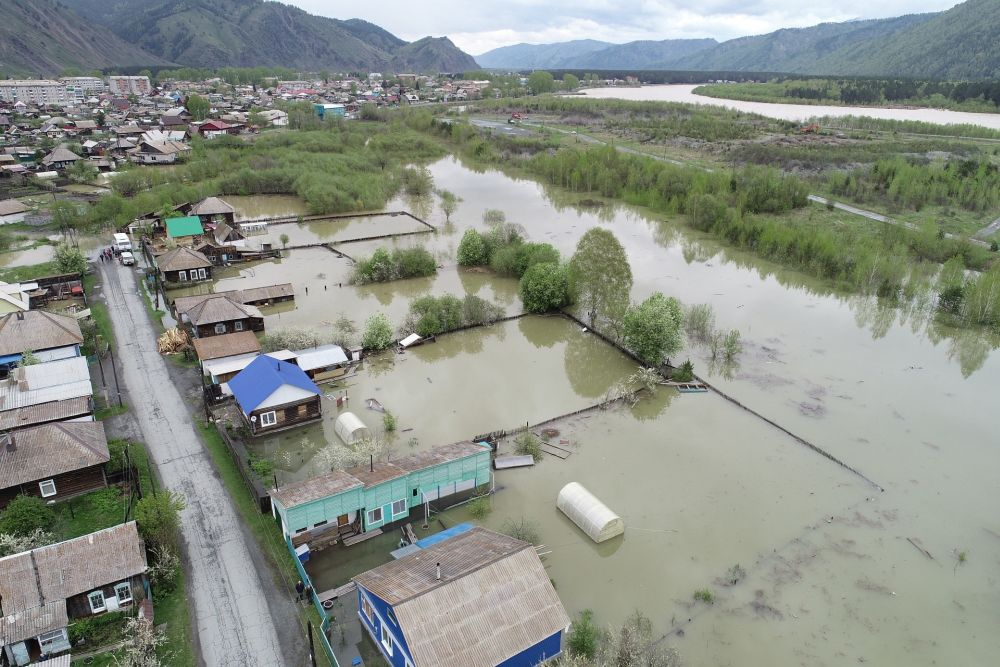 Разлив реки Абакан