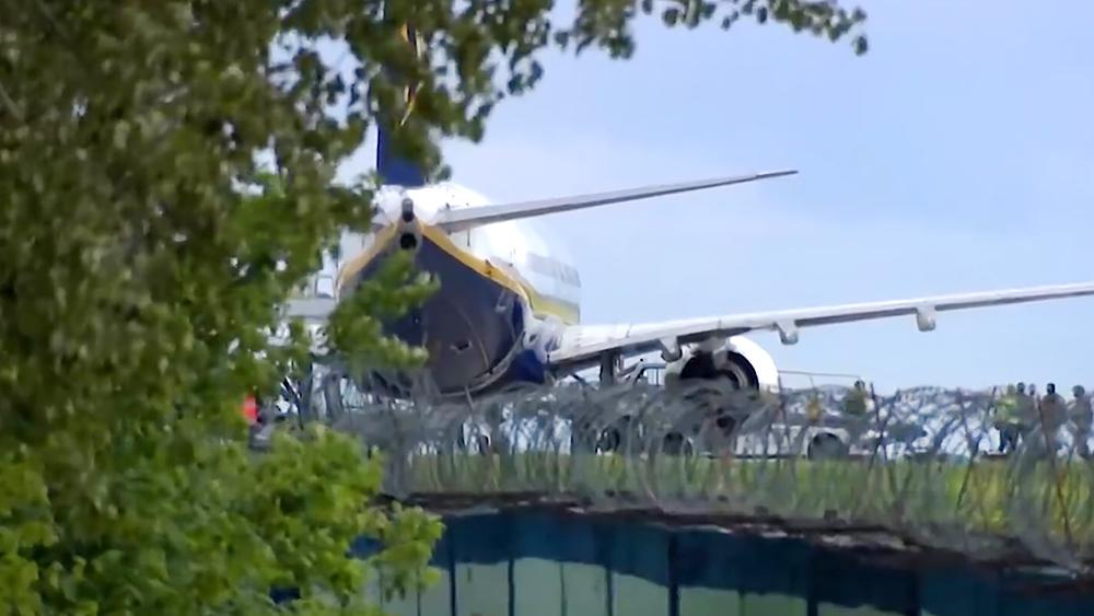 Самолет авиакомпании Ryanair в Минском аэропорту
