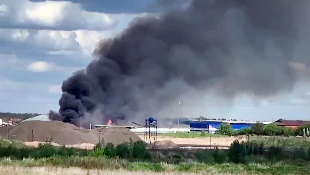 Пожар на птицефабрике