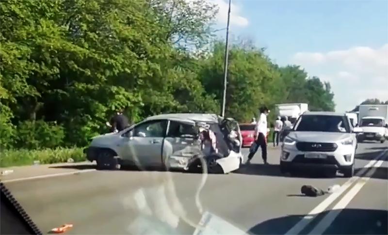 Последствия ДТП на Старо-Рязанском шоссе