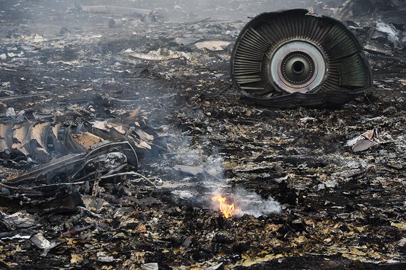 Место крушения малайзийского самолета Boeing 777