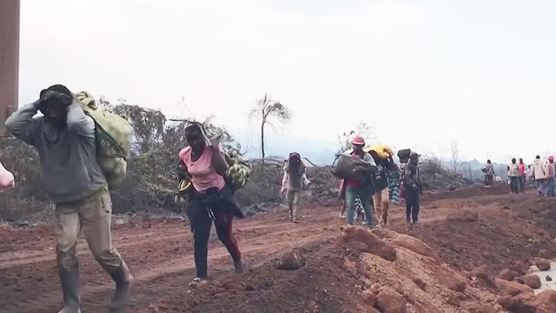 Эвакуация жителей в Конго