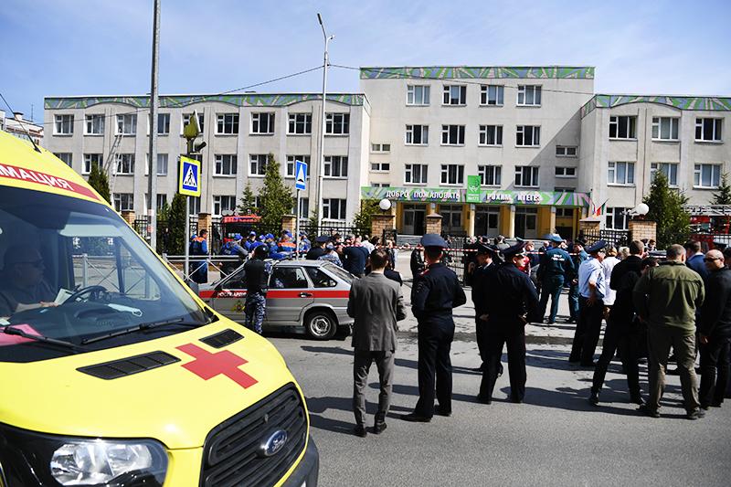 Школа в Казани, где произошла стрельба