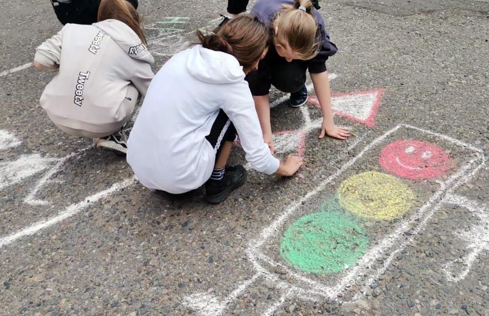 Участники урока ПДД для школьников