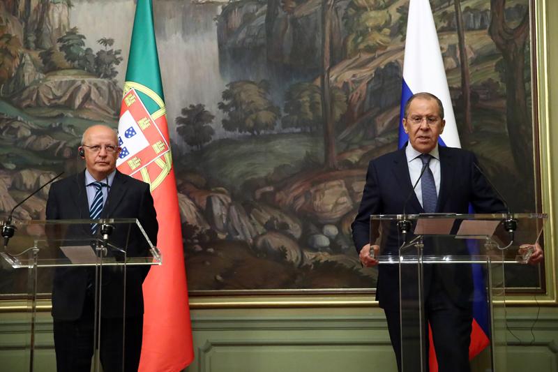 Сергей Лавров и министр иностранных дел Португалии Аугушту Сантуш Силва