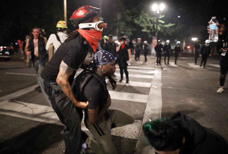 Массовые акции против расизма в США