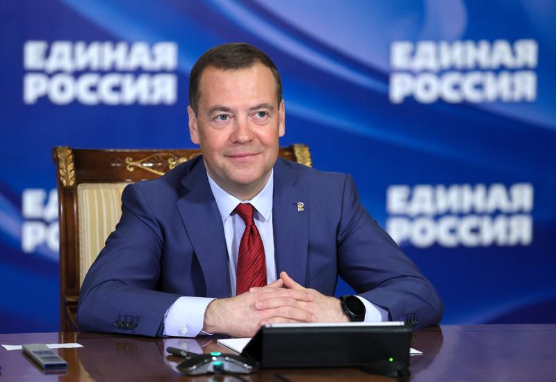 """Председатель Всероссийской политической партии """"Единая Россия"""" Дмитрий Медведев"""