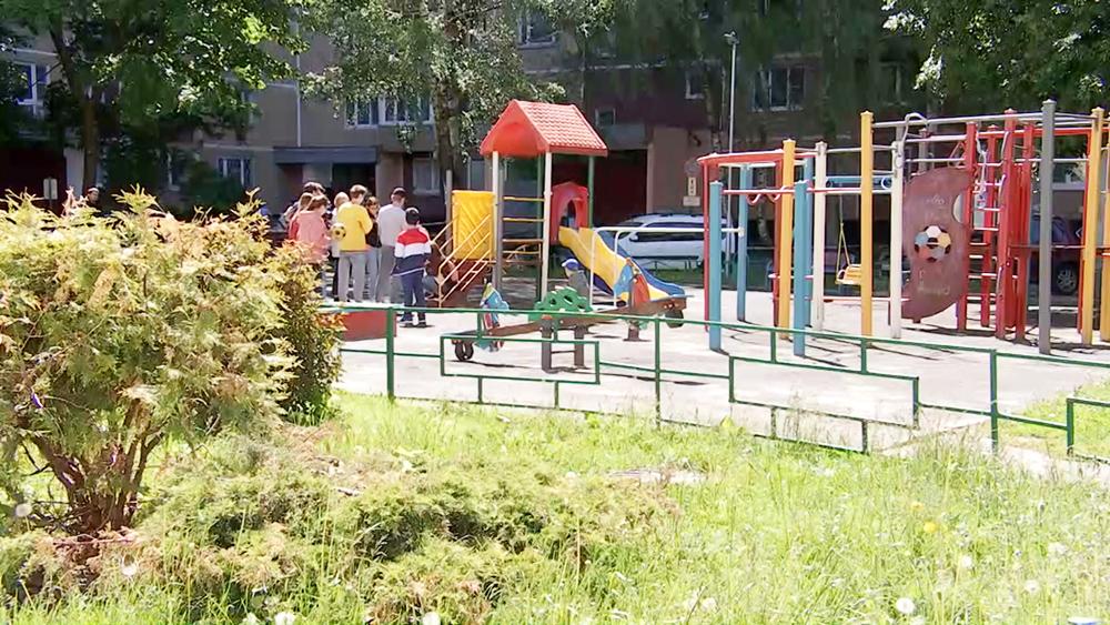 Место падения ребенка