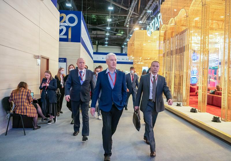 Мэр Москвы Сергей Собянин на Петербургском международном экономическом форуме