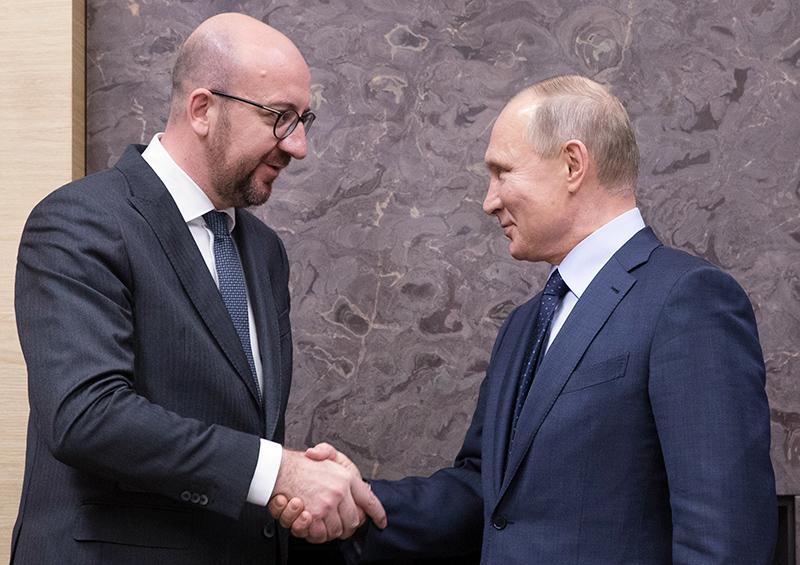 Владимир Путин и Шарль Мишель