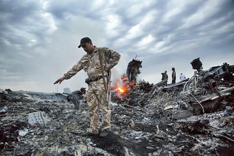 Место крушения Boeing 777 Malaysia Airlines (рейс MH17) на Украине