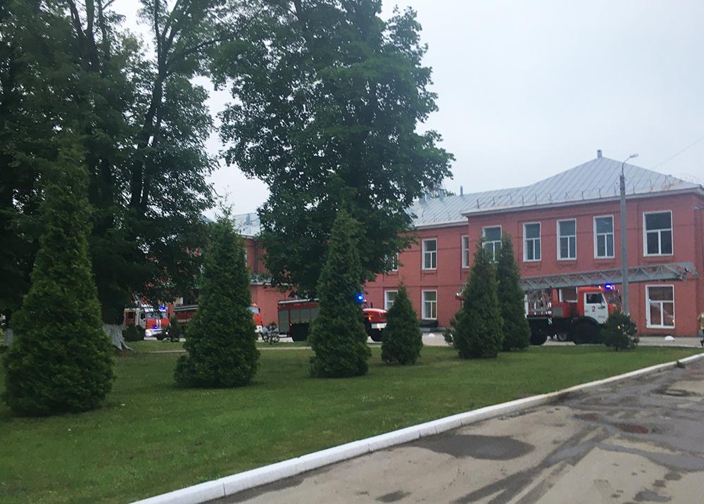 Пожар в больнице Рязани