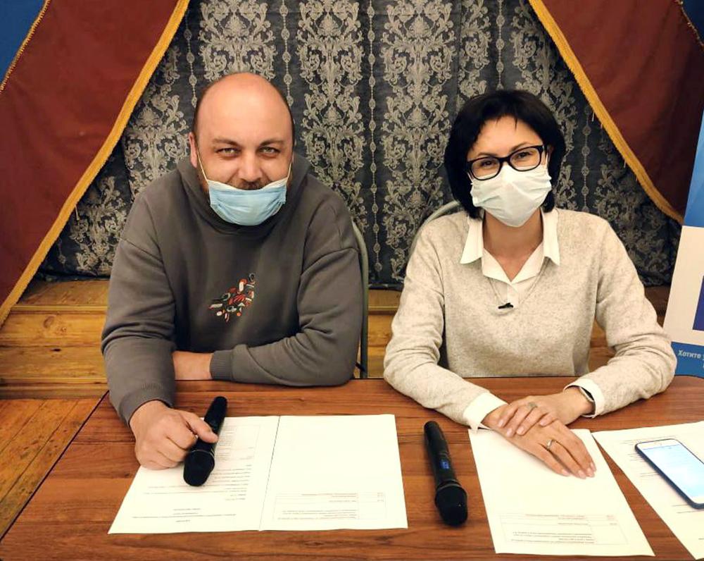 Елена Кац и Петр Шкуматов