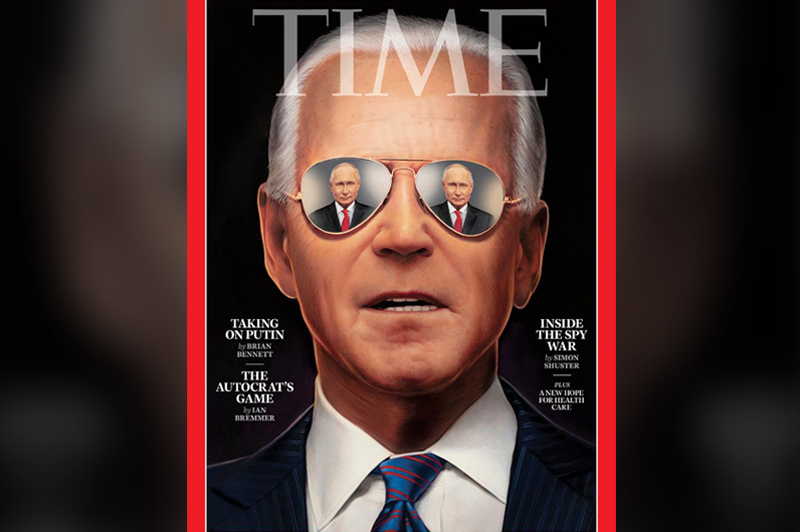Обложка журнала Time в преддверии саммита Путина и Байдена